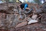 Pink Bike's Mike Levy gets a taste of brake testing in Sedona