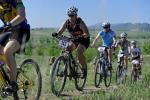 Tami Dick of Boulder tackles the first climb in the Beti Bike Bash mountain bike race. PHOTO BY MARTY CAIVANO