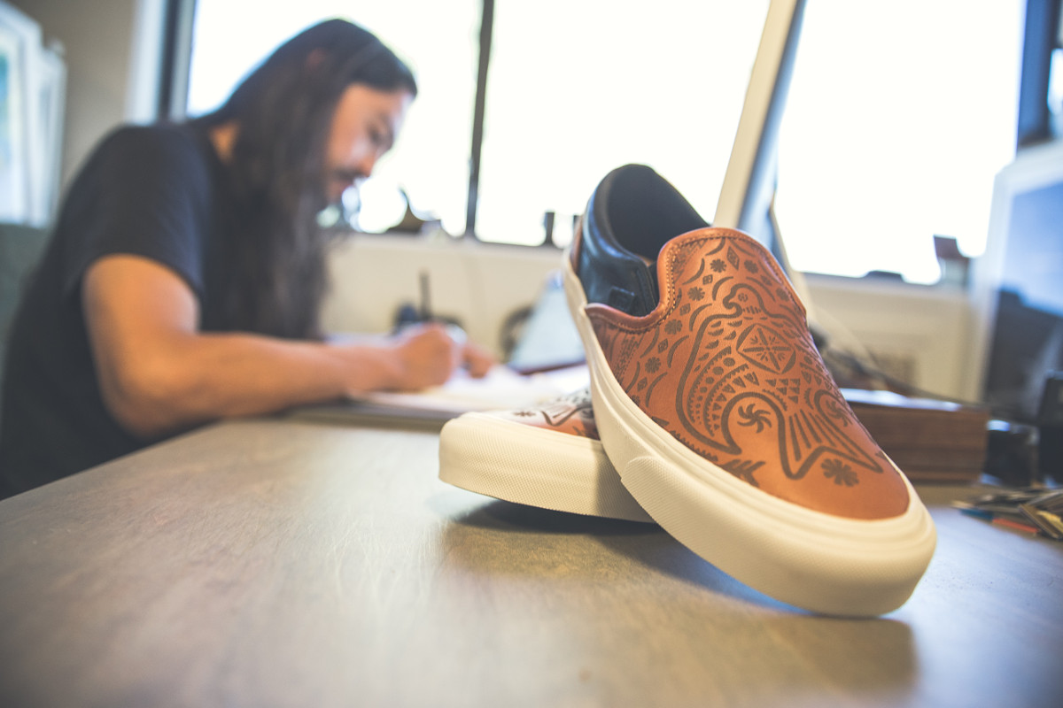 17bc1f9cbe The Brooks x Vault by Vans partnership features laser-etched artwork from  designer Taka Hayashi.