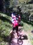 Rebecca Rusch, at right, leads a group go girls on a single track ride near Ketchum.