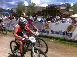 Junior Women 11-12 gunning for it in Sun Valley, Idaho.