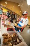 Plenty of hot food was awaiting racers after their long day in the saddle.