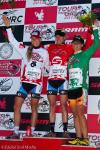 Best young racer Taylor Wiles, race leader Kristin Armstrong, and points leader Carmen Small