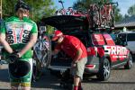 SRAM Tech Support was on the scene making adjustments to riders bikes every day of the race.