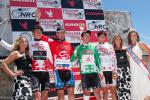 Dombroski in best young riders jersey, Sutherland in leaders, Young in the points jersey, and Beyer got the climbers jersey.