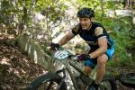 Pisgah local Scott Sidener rode the whole stage race on his singlespeed fat bike.
