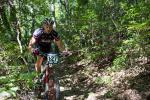 Michael Ansari is used to the tight singletrack of the Pisgah Forest.