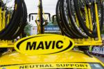 Mavic neutral support car staged at race start.