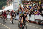 Bontrager Livestrong Gavin Mannion shows the effort it took to win the best young riders jersey.