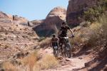 Beth Roberts and Heidi Rentz put in some solid rides for the Moab locals contingent.