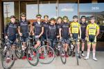The team gets ready to head out on the road from the Trek Store Boulder.